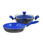 """Набор посуды для подарка """"Travola"""", с керамическим покрытием, 3 предмета"""